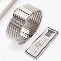 huawei classique achat en gros de-Bracelet milanais pour montre Samsung galaxy 42mm vitesse Sport S2 Huawei watch2 bande professionnelle en acier inoxydable avec emballage de détail