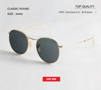 розовые солнцезащитные очки для мужчин оптовых-2019 Высокое качество Круглые розовые солнцезащитные очки для женщин Металлические солнцезащитные очки мужчина 50 мм Открытый UV400 градиент дизайнер gafas rd3447 Очки женские