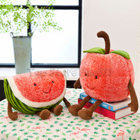 Wholesale funny stuff toys resale online - Watermelon Cherry Stuffed Toys Strawberry Plush Doll Toy CM Summer Fruit Plush Best Funny Stuffed For Kids
