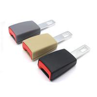 Wholesale car socket extension resale online - Universal mm Auto Car Seat Belt Buckle Clip Extender Car Socket Safety Belt Buckles Extender Extension Accessories
