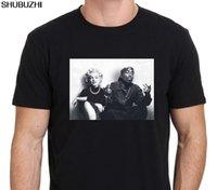 erkekler için tişört modası toptan satış-Moda Tasarımı Ücretsiz Kargo Efsaneleri Tupac Marilyn Monroe Men'S Mürettebat Boyun Kısa Kol Baskı Makinesi T Gömlek