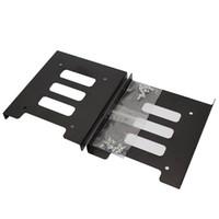 """lenovo venda por atacado-2,5"""" para 3,5"""" SSD HDD Adapter metal montagem do suporte de disco rígido para PC"""