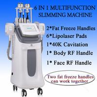 Wholesale cavitation laser slimming for sale - fat freezing machine waist slimming cavitation rf machine fat reduction lipo laser freezing heads can work at the same time