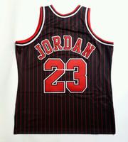 100% Stitched Michael #23 Mitchell Ness Pinstripe 1995-96 Wholesale Jersey XL 48 Mens Vest Size XS-6XL Stitched basketball Jerseys Ncaa