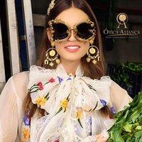serin güneş gözlüğü serin toptan satış-2020 Retro Yuvarlak Güneş Kadın güneş gözlüğü Marka Tasarımcı Vintage Stil Shades Güneş Gözlükleri UV400 Gözlük soğutmak