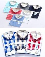 vestido clásico de los hombres al por mayor-# 525 Diseñador de lujo Clásico Hombre Camisas de manga larga de verano Medusa Camisa de vestir de color sólido Camisas casuales de los hombres Moda Oxford Business Shirt