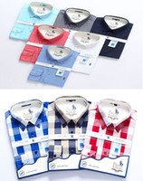vestido clássico dos homens venda por atacado-# 525 Luxo Designer Clássico Camisas Dos Homens de Manga Longa de Verão Medusa Vestido de Camisa Cor Sólida Camisas Casuais dos homens de Moda Oxford Camisa de Negócios