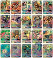 Wholesale free children toys resale online - 20PCS GX Cards High HP Flash Cards New Charizard TagTeam For Children Toy DHL