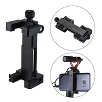 Wholesale cell phone clamp mount online – Universal Phone Tripod Mount Adapter Clamp Bracket Cell Phone Clipper Holder Tripod Stand for iPhone Samsung Smartphone