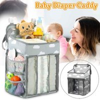 Wholesale baby nappy holder resale online - Portable Baby Crib Folding Baby Diaper Organizer Bed Holder Infant Nursing Nappy Storage Hang Bag Essentials Diaper Caddy