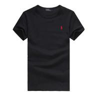 hombres 6xl camisetas al por mayor-Ralph camisa lauren polo camisas para hombre Algodón de color sólido Seis colores S-6XL camiseta de alta calidad pareja de algodón camisetas hombre diseñador casual t-shir