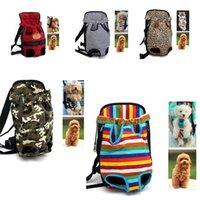mochilas impresas gato al por mayor-5styles Pet Dog Front Cofre portátil de dibujos animados impreso mochila portadores con botones Bolsa de viaje al aire libre para perros Gatos bolsa FFA2261