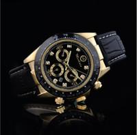 ingrosso oro nero piccolo-Rolex masculino mens orologi Luxury fashion designer di moda quadrante nero calendario bracciale oro chiusura chiusura Master Male 2019 regali coppie