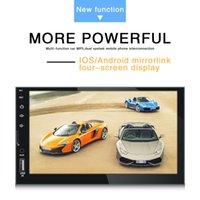 dupla dinas venda por atacado-Carro novo HD MP5 player 7 polegadas double din máquina universal tela capacitiva MP4 MP3 rádio Bluetooth transfronteiriça venda quente