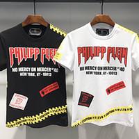 3d schädelkopfhemd großhandel-Gedruckt Phillip Einfarbig Neue T-shirt Mens T-Shirt Schädel kopf 3d Druck Hip Hop Cool Tees Shirt Plus Größe Männer Streetwear T-shirt