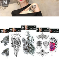 tatuajes corporales mano al por mayor-Impermeables Pegatinas de Tatuaje Temporal Totem Flor Tatuaje Falso Tatuaje Flash Arte Corporal Mano Pie para Chica Mujer Hombre RRA1409