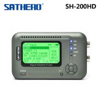 buscador de medidores dvb s al por mayor-Original Sathero SH-200HD DVB-S / S2 HD Digital Satellite Finder Meter envío gratis