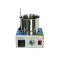 misturadores de laboratório venda por atacado-Ímã Laboratório Misturador Agitador Magnético Agitador Laboratório Digital Temperatura Constante Banho de Óleo Agitação Instrumento Industrial DF-101Z