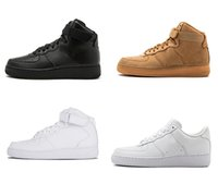 Wholesale brand high cut shoes for men resale online - Hot One Dunk Running Shoes Brand For Men Women Sports Skateboarding High Low Cut White Black Wheat Trainers Sneakers With Box