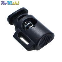 Wholesale plastic cylinders for sale - Group buy 50pcs Cord Lock Cylinder Barrel Toggle Stopper Plastic Black mm mm mm