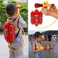 armas de brinquedo para o ano inteiro venda por atacado-3 Água Pistola Vermelha anos de Água Puxar-tipo Arma Crianças Ao Ar Livre Fogo Mochila velha 0 5 kg mochila de Fogo arma de água conjunto completo de brinquedos