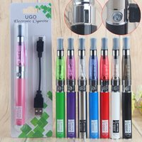 batterie simple ego t achat en gros de-Hot eGo T CE4 Vaporisateur simple Blister Pack Kits de cigarettes électroniques avec 650mAh UGO Micro USB Evod Pass Through Vape Pen Batterie