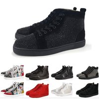 Wholesale pumps casual shoes for sale - Group buy New luxury designer women men shoes low red bottom Nude black red Leather Pointed Toes Pumps casual sneaker shoes