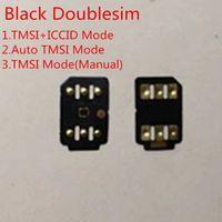 iphone sim kart t mobile toptan satış-ABD için DHL Siyah Çift sim kilidini Kart iOS 13.X / T-Mobile, Sprint, fino, DoCoMo diğer taşıyıcılar GEVEY Turbo Sim TMSI'ye ICCID Modu