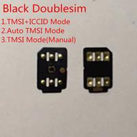 desbloquear iphone docomo al por mayor-DHL libre Negro doble SIM Unlock Card IOS 13.x para nosotros / T-Mobile, Sprint, Fido, DoCoMo otros portadores GEVEY Turbo SIM TMSI Modo ICCID