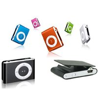 Wholesale mini clip mp3 music player for sale - Group buy Mini Metal Clip MP3 Support Micro TF SD Card Slot With Earphone and USB Cable Portable MP3 Music Players