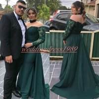 6b7872b8d52 Wholesale junior formal dresses sleeves for sale - Elegant Plus Size  Mermaid Prom Dresses Long Sleeve