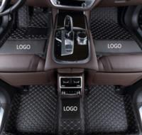 piso del coche de cuero al por mayor-Mercedes-Benz AMG GT 2015-2018 coche antideslizante estera de lujo rodeado de alfombra del piso del coche del cuero resistente al desgaste resistente al agua con el logotipo
