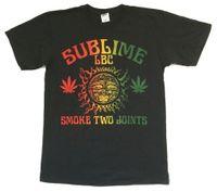 ingrosso fumo nero-Sublime Smoke Two Joints LBC 40oz Sun Black Maglietta New Official Band Merch
