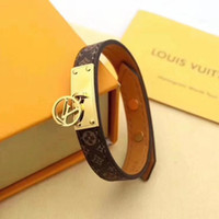 Wholesale black tungsten bracelets for men for sale - Group buy Brands Leather Bracelets Jewelry for Women Men Louis vuitton Stainless Steel Designers Pulseiras Accessories Gifts XM Mother Day