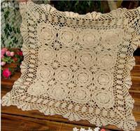 ingrosso uncinetto-All'ingrosso-mano all'uncinetto Tovaglia per Table Cover Crochet Centrini Mat Pad Vintage panno Coaster Tavolo per le forniture di nozze