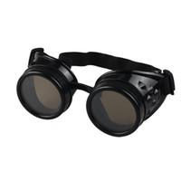 óculos de soldagem vintage venda por atacado-Atacado-Hot Vendas Estilo Vintage Steampunk Óculos de Solda Punk Glasses Cosplay Frete grátis atacado