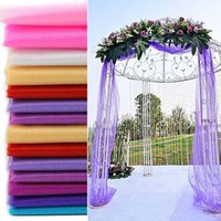 Wholesale tulle wedding backdrop resale online - 5 Meters Long Wedding Backdrop Swag Party Curtain Celebration Stage Performance Background Drape Chiffon Colorful Organza Wedding Accessory