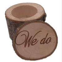 Wholesale wood ring box gift resale online - Rustic Wedding Ring Bearer Box Personalized Wedding Ring Box Decor Customized Wedding Gifts Wooden ring holder box