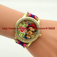 Wholesale friendship watches resale online - Dress Watches New Brand Handmade Braided Bracelet Watch Women Friendship Wristwatch Ladies Quartz Gold Watch