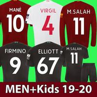 jersey de fútbol negro para niños al por mayor-adulto Niños Liverpool 19 20 SALAH camiseta de fútbol 2019 MANE camiseta de fútbol 2020 Camiseta de fútbol negro FIRMINO maillot de foot VIRGIL HENDERSON ORIGI