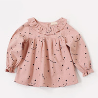 Wholesale little girl dress boutiques for sale - Group buy New Girl Clothes Dresses Kids Boutique Clothes Little Star Print Round Collar Long Sleeve Dresses Spring Elegant Dress multi Colors