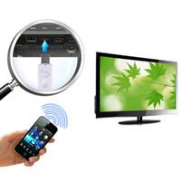 nouvelle enceinte bleue achat en gros de-Nouvelle arrivée bleu sans fil USB Bluetooth Audio récepteur de musique adaptateur pour Iphone Samsung pour voiture Smartphone Tablet PC haut-parleur livraison gratuite