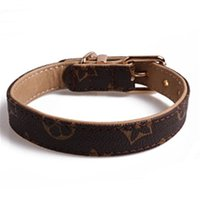 Wholesale outdoor accessories for sale - Group buy New Classic Designer Dog Collar Pattern Pu Leather Pets Collars Adjustable Brand Cat Leashes Outdoor Personality Cute Pet Collar Accessories