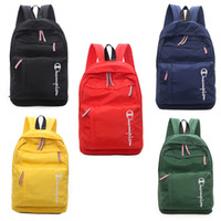Wholesale china handbag brand for sale - Group buy Champion Letter Designer Backpack Brand Fashion Women Men Shoulder Bag Luxury Handbag Candy Color Zipper Outdoor Travel Bag Backpacks C7404