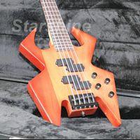 neue feste körpergitarren großhandel-JBN5179 Neues Produkt E-Bass E-4001 Hochwertige Naturfarbe Solid Body