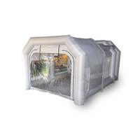 rociar carpas al por mayor-Tienda plegable de la cabina de la pintura de espray del paño inflable de gran tamaño de los 20Ft / de los 6M con el ventilador 2