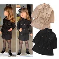 bebek ten kürkleri toptan satış-Çocuklar giysi tasarımcısı kızlar Kadife Mont çocuk İngiltere Stil Dış Giyim 2019 ilkbahar Sonbahar Kış Coat Butik bebek Giyim C609