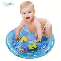 Wholesale play yard baby for sale - Group buy YARD Infant Stimulation Growth Round Shape Inflatable Baby Tummy Time Water Play Mat With Box Package