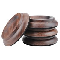 Wholesale walnut wood flooring for sale - Group buy Set of Upright Piano Caster Cups Black walnut Wood Feet Pad Timber Floor Carpet Protector Slip Resistant Deep Brown