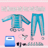 Wholesale muscle massage machines resale online - pressotherapy slimming Infrared sauna EMS Electric Muscle Stimulation Lymph Drainage Body machine pressotherapy massage equipment in